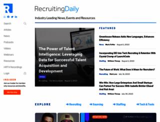 recruitingdaily.com screenshot