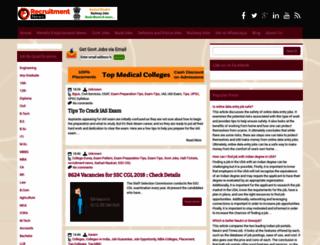 recruitment-news.in screenshot