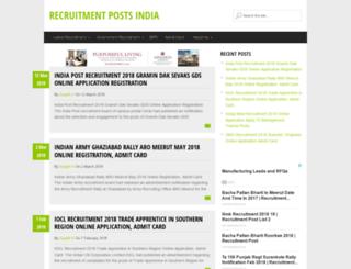 recruitmentposts.in screenshot