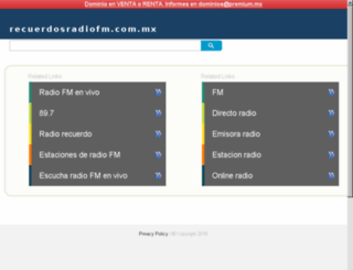 recuerdosradiofm.com.mx screenshot