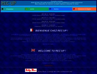 recup.ch screenshot