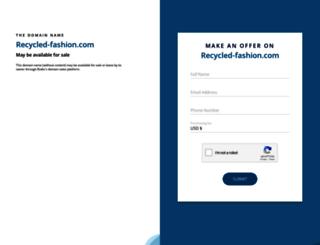 recycled-fashion.com screenshot