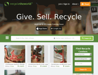 recycletheworld.org screenshot