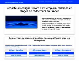 redacteurs.enligne-fr.com screenshot