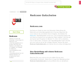 redcoon.gutscheincodes.de screenshot