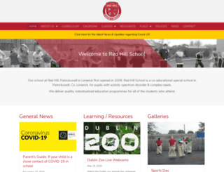 redhillschool.ie screenshot