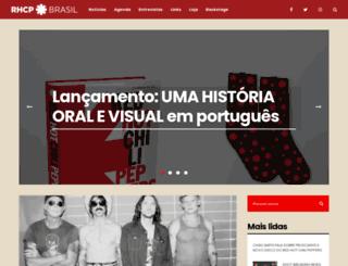 redhotchilipeppers.com.br screenshot