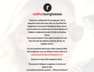 redhotsunglasses.co.uk screenshot