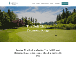 redmondridgegolf.com screenshot