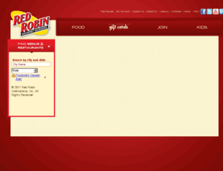 redrobinstore.wgiftcard.com screenshot