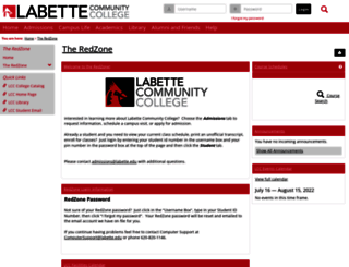 redzone.labette.edu screenshot