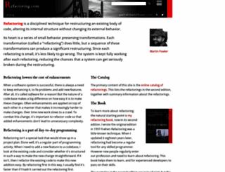 refactoring.com screenshot