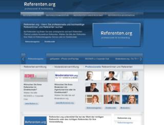 referenten.org screenshot