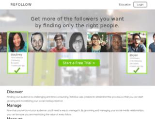 refollow.com screenshot
