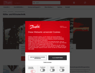refrigerationandairconditioning.danfoss.de screenshot