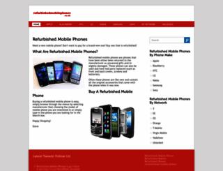refurbishedmobilephones.co.uk screenshot