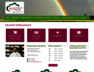 regenbogen-apotheke-fuerstenwalde.de screenshot