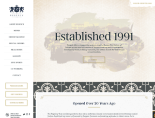 regencyclub.co.uk screenshot