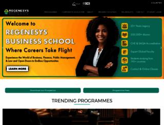 regenesys.net screenshot