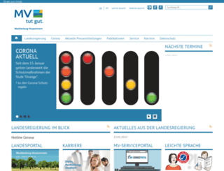 regierung-mv.de screenshot