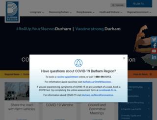 region.durham.on.ca screenshot
