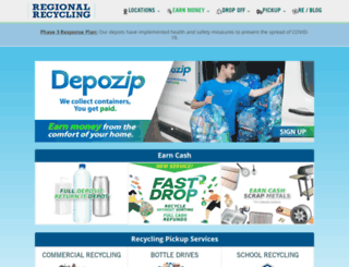 regionalrecycling.ca screenshot