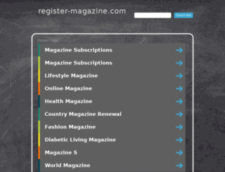 register-magazine.com screenshot
