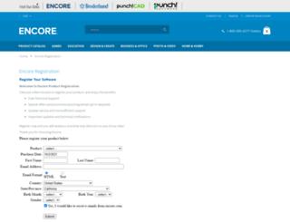 register.encoreusa.com screenshot