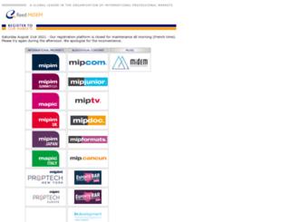 register.mipcom.com screenshot