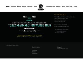 register.wbffshows.com screenshot
