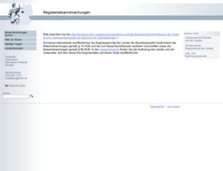 registerbekanntmachungen.de screenshot