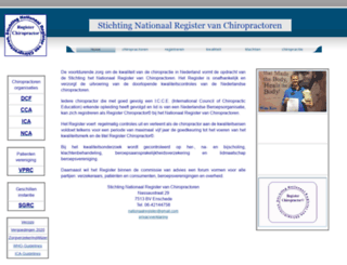 registerchiropractor.nl screenshot
