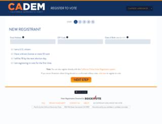registertovote.cadem.org screenshot