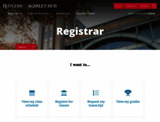 registrar.rutgers.edu screenshot