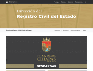 registrocivil.chiapas.gob.mx screenshot