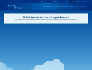 rehabmypatient.com screenshot