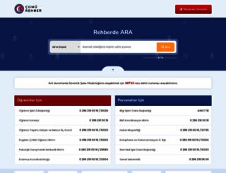 rehber.comu.edu.tr screenshot