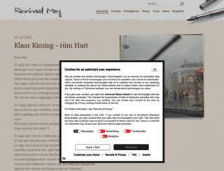 reinhard-mey.de screenshot
