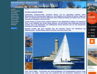 reiseinfo-kroatien.com screenshot