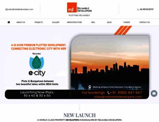 reliaabledevelopers.com screenshot