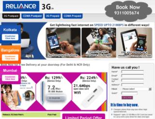 reliance3g.in screenshot