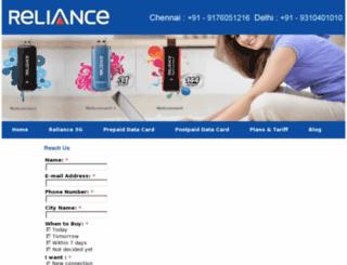 reliance3g.net.in screenshot