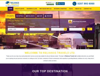 reliancetravels.co.uk screenshot