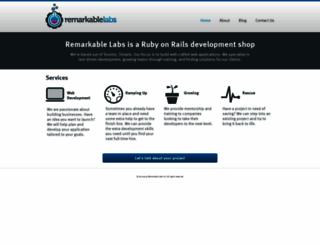 remarkablelabs.com screenshot
