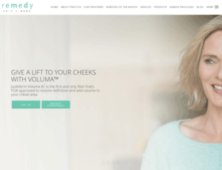 remedyskinandbody.com screenshot