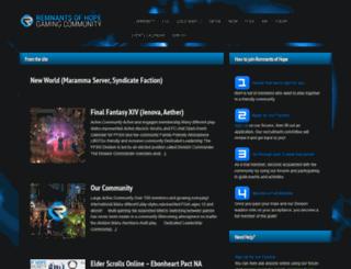 remnantsofhope.com screenshot