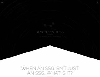 remotesynthesis.com screenshot