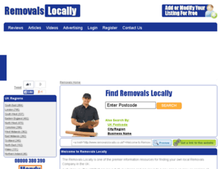 removalslocally.co.uk screenshot