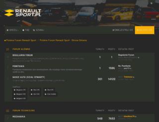 renault-sport.pl screenshot