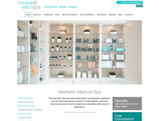 renewalskinspa.com screenshot